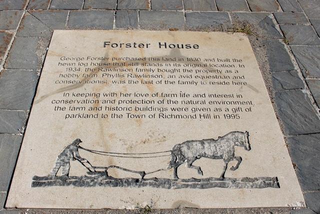 Phyllis Rawlinson Park Forster Farm Plaque