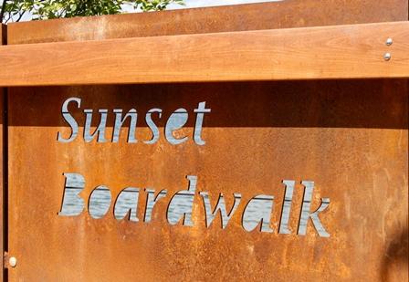 Sunset Beach Board Walk Sign