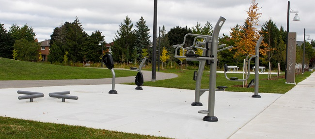David Hamilton Park outdoor exercise equipment