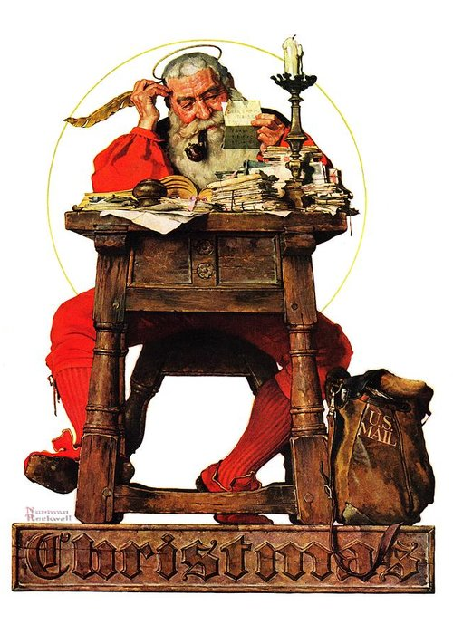 Christmas card - Norman Rockwell