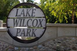 Lake Wilcox Park Sign