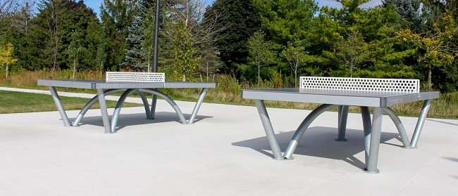 David Hamilton Park outdoor table tennis